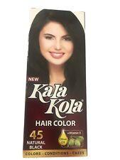 Kala Kola 45 Natural Black Hair Color AMMONIA FREE Permanant+free Gift USA SELER