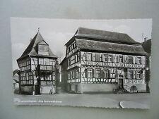Ansichtskarte Sinsheim Baden Alte Fachwerkhäuser 1956