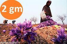 Original Kashmir Saffron kesar 2 gm Zafran pure stigma kashmiri (PREMIUM GRADE)