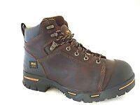 Timberland PRO 52562 Endurance 6-Inch Steel Toe Men's Brown Work Boots SZ 7.5 W