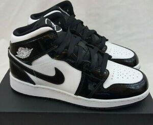 Nike Air Jordan 1 Mid SE GS ASW Carbon Fiber Black White DD1649-001 Size 4Y