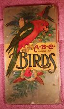 Antique 1916 ABC Children's Book of Birds by Stecher Litho. Co