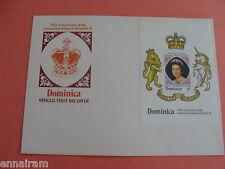 Queen Elizabeth II Silver Jubilee FDC 25 Coronation Dominica 1978 #2 no postmark