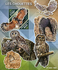 Niger 2015 MNH Owls 1v S/S Birds Chouettes Brown Wood Owl