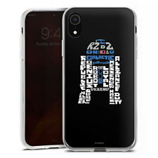 Apple iPhone Xr Silikon Hülle Case - R2-D2 Typo