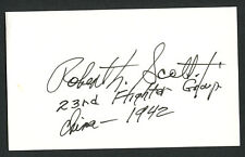 Robert Scott (d. 2006) signed autograph auto 3x5 card WWII Flying Tiger W156