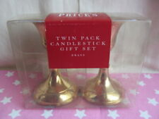 Price's Twin Pack Candlestick Gift Set Brass Sealed New
