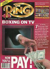 Revista De Anillo: 1991 de febrero (boxeo en TV a Cubierta frontal), Fina/limpio!