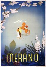 MERANO 1920 Vintage Italian Travel Poster CANVAS PRINT 24x32 in.