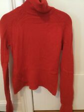FRENCH CONNECTION 100% CASHMERE RED TURTLENECK SWEATER TOP M
