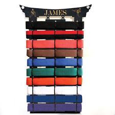 2x9 belt rack personalised martial arts belt holder display rack birthday gift
