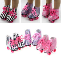 """Fashion 1Pair Roller Skates Shoes For All 18"""" American Girl Doll Shoes Gift RDUK"""