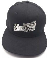 OLD SCHOOLHOUSE BREWERY (WA) black adjustable cap / hat - 100% cotton