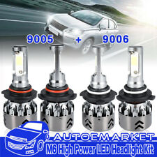 4Pcs For Dodge Journey 9005+9006 1040W Total LED Headlight High Low Beam Bulbs