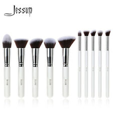 Jessup Makeup Brushes Set 10Pcs Face Power Eyeshadow Kabuki Cosmetic Kit