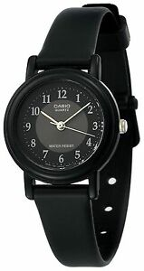 Casio Women's Black Resin Watch, Analog, Water Resistant, LQ139A-1B3