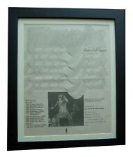 VINEGAR JOE+Rock Gypsies+POSTER+AD+RARE ORIGINAL 1972+FRAMED+EXPRESS GLOBAL SHIP