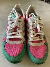 Adidas Grete Waitz Womens Vintage Sneakers 2006 Pink Green White US 6