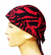 #F16 - RED TIGER Zandana ZEBRA Head Hair Band Bike Handkerschief Scarf Cap