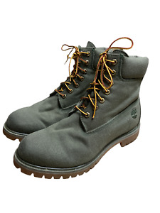 Timberland A1PBX Dark Green Lace-Up Padded Ankle Work Boots Men's Size 11