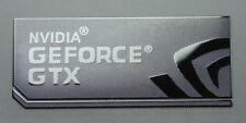 NVIDIA GEFORCE GTX  metalissed chrome efect sticker logo badge 34 mm x 15 mm