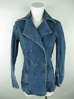 INC International Concepts Women S VINTAGE Blue Denim Medium Wash Peacoat Jacket