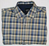 Hugo Boss Men's Check Shirt Regular Fit Size S