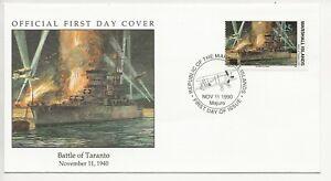 50th Ann WWII Comm/FDC - Marshall Isles - Battle of Taranto -1990 (1898)Z