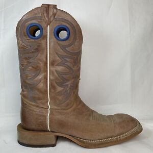 Mens Justin Square Toe Boots BR744 Cowhide Leather Western Boots 7.5 D USA