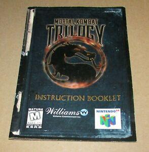 Mortal Kombat Trilogy (Instruction Manual Only) Nintendo 64 Authentic