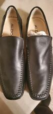 Aldo Mens 11  Driving Moccasins Loafers Black Leather  BEAUTIFUL