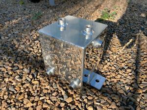 2 Litre Fuel Swirl Pot / Surge Tank + 6 x Ports, Polished Aluminium