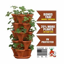 Mr. Stacky 5-Tier Strawberry Planter Pot 5 Pots Free Shipping