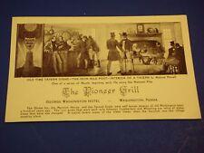 Pioneer Grill Old Time Tavern George Washington Hotel PA Vintage Postcard PC6