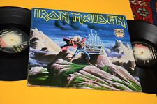 IRON MAIDEN 2LP RUNNING FREE-RUN TO THE HILLS ORIG ITALY 1990 EX GATEFOLD COVER