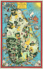 Early Wall Map Ceylon Tea and other Industries Sri Lanka 11'x16' Tea Lovers Gift