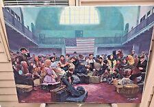 """Mort Kuntsler """"Ellis Island Main Hall"""" Oil on Canvas Ltd Ed Print # 73 of 200"""