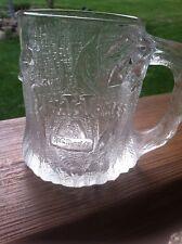 """4"" Flintstones Tree Mendous Vintage Frosted Glass Coffee Mug ~ McDonald's 1993"