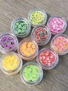 Nail Art Fymo Fruit Pieces