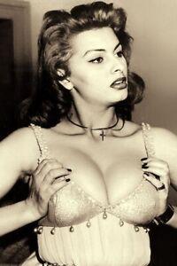 """1960's Sophia Loren Beautiful Italian Actress 4""""x6"""" Reprint Photograph SO1"""