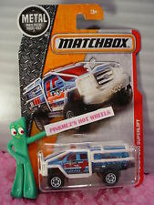 2016 MATCHBOX #73 FORD F-350 SUPERLIFT☆Blue/White;Arctic☆Heroic Rescue☆Case H/J