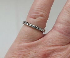 Diamond White Gold Ring Retro Fine Jewellery (1940s)