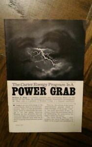 Carter Energy Program Is a POWER GRAB  AMERICA OPINION books WILLIAM P HOAR C21