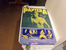 VINTAGE 1991PANTERA (WALK) LIVE IN RUSSIA (MONSTERS OF ROCK) PROMO POSTER-RARE