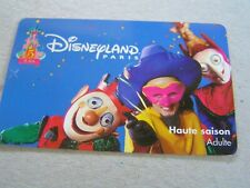 France Disneyland used card   3 people with masks,  not phonecard