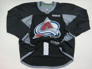 Practice Worn Reebok Colorado Avalanche NHL Pro Stock Hockey Jersey 58 Black #53