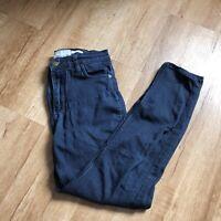 Free People Womens Blue Dark Wash Straight Leg Denim Jeans 27 Hi Rise
