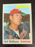 1970 Ted Williams # 211 Washington Senators Topps Baseball Card HOF