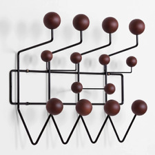 Eames Replica Hang It All Wall Hanger Coat Rack Black Solid Walnut Wooden Balls