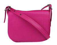 Coach Women's Cerise Pink Saddle Glovetanned Leather Purse Bag Ret $395 New